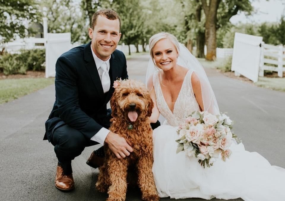 Kailey, Ethan and pup make the cutest little family!